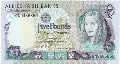 Allied Irish Banks Plc. £5 Dated 1987,  Uncirculated