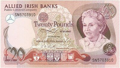 Allied Irish Banks Plc. £20 Dated 1990, Uncirculated