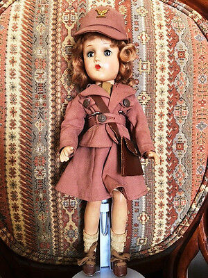 """Madame Alexander WAAC Military Doll Original Outfit 14"""" - PROVENANCE & Extras"""