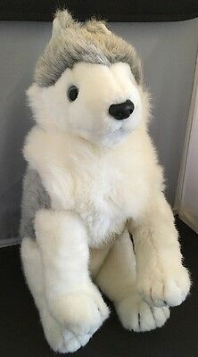 """TIMBER Vintage 1993 Ty Beanie Buddies Plush Large Wolf Husky 15"""" tush tags only"""
