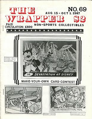 THE WRAPPER No 69 NON-SPORTS CARDS COLLECTIBLES, 007, SPEC SHEET,1969 CARDS 1987