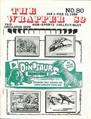 THE WRAPPER No.80 NON-SPORTS CARDS COLLECTIBLES - DINOSAUR, TV CARDS - 1989