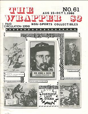 THE WRAPPER No.61  NON-SPORTS CARDS COLLECTIBLES, ZORRO, CUSTER, 007 CARDS  1986