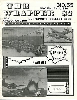 THE WRAPPER - No.55 - NON-SPORTS CARDS COLLECTIBLES MAGAZINE -  AVIONES - 1986