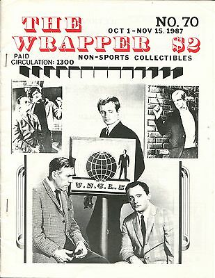 THE WRAPPER No 70 NON-SPORTS CARDS COLLECTIBLES, GET SMART, MAN FROM UNCLE, 1987