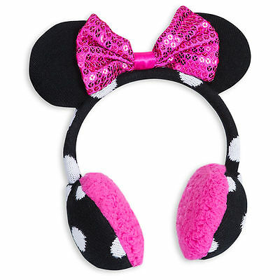 Disney Store Minnie Mouse Clubhouse Knitted Ear Muffs for Kids