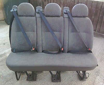 Ford Transit Triple Rear Seat With Seat Belts