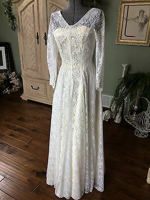 Vintage tailor made Wedding dress.  late 40's-50's