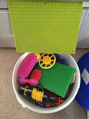 Used - Tub of Child's Stickle Type Bricks, free P & P