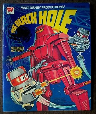 Walt Disney's The Black Hole Activity Sticker Book by Whitman 1979 Never Used!!!