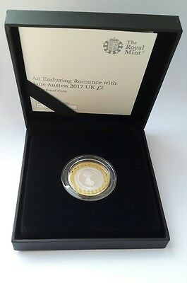 2017 Royal Mint Jane Austen £2 Two Pound Silver Proof Coin  COA 2511