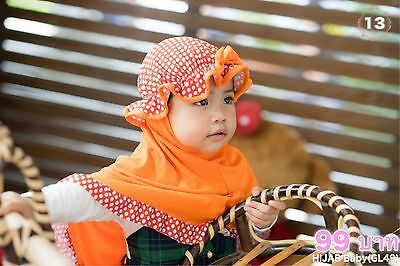 Muslim Kids Hijab for  New born baby toddle  Head wear  Baby hats for Aid