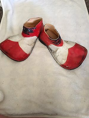 Vintage Clown Shoes Rubber Red White