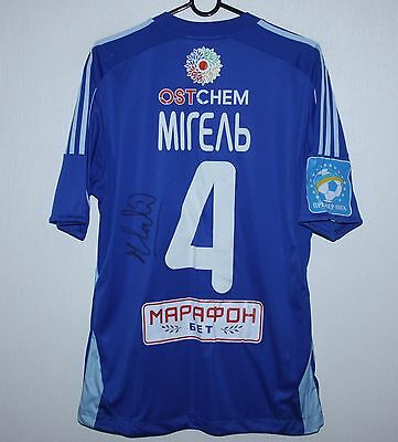 Dynamo Kiev Ukraine away match worn shirt 2015 #4 Miguel Veloso Adidas signed