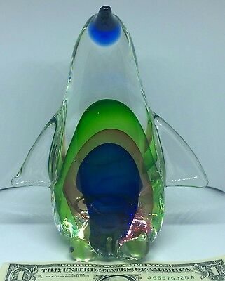 3+ Pound Fitz & Floyd Leaded Glass/Crystal Penguin