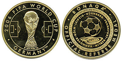 Bonaqa Referee Münze Fifa World Cup 2006 Germany medal coin soccer football