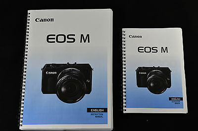 Canon EOS M User guide Instruction manual  ***COLOUR  PRINTED***