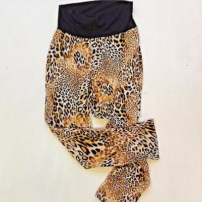 Maternity Leopard Skinny Leggings by Oh! Mama Large Thin & Light Fabric Stretch