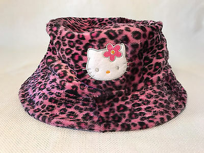 Rare Hello Kitty Sanrio Pink Leopard Print Bucket Hat, 2000, NEW