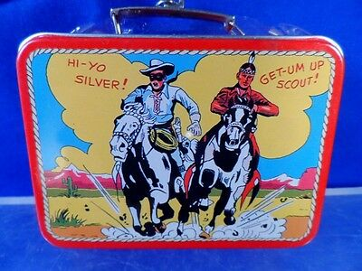 Vintage 1997 Hallmark Lone Ranger Ornament Tin Metal Lunch Box Cute NEW!