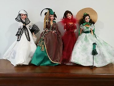 GONE WITH THE WIND Barbie Set of 4 Scarlett O'Hara Collection