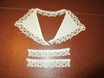 Vintage Lace Trimmed Collar and Cuffs