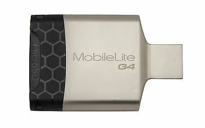 Kingston MobileLite G4 USB3.0 Multi-Card Reader for microSD/SD Cards Black Grey