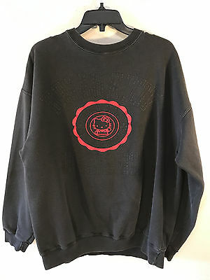 "Rare Vintage Sanrio ""Hello Kitty University"" Black Sweatshirt, XLarge, 1993"