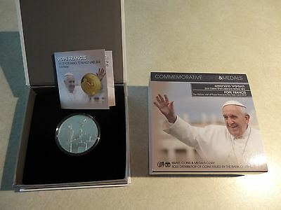 Pope Francis I Commemorative 2014 Historic Visit To Holy Land SILVER PROOF 1 oz.