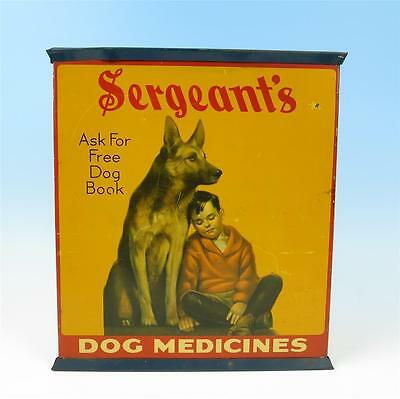 Antique Sergeant's Dog Medicines Tin Litho Advertising Case Veterinary Cabinet