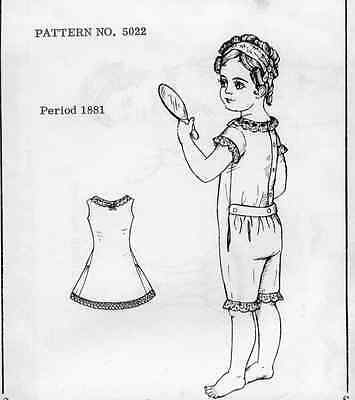 "21-22""antique French/german Doll@1881 Underwear/petticoat&combination Pattern"