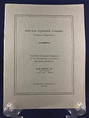 American Cyanamid Company The Effect of Certain Chemicals on Flotation 1927