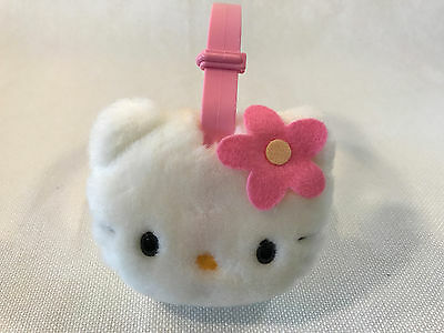Rare Hello Kitty Sanrio Pink Flower Adjustable Earmuffs, NEW