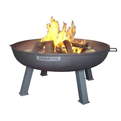 Modern Designer Steel Rust Finish Outdoor Firepit Fire Pit Fireplace Patio Heat