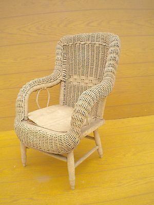 Authentic Antique Child's Wicker Chair