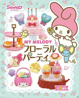 Re-ment My Melody Floral Party Full Set of 8 ◆ Sanrio Japan Miniature rement