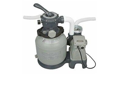 Intex Krystal Clear Sand Filter Pump for Above Ground Pools, 2100 GPH Pump Flow