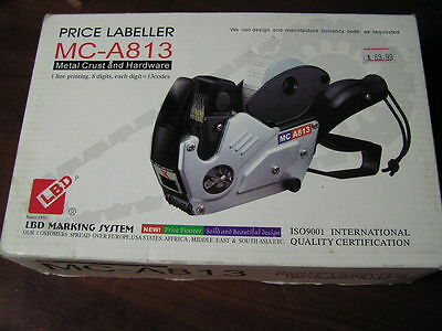NEW Price Tag Labeler metal crust 1-line 8 digits + 30 rolls of labels