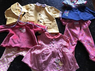 Lot American Girl Bitty Baby Clothes Twins Outfit Red Dresses Pants Rain Coat