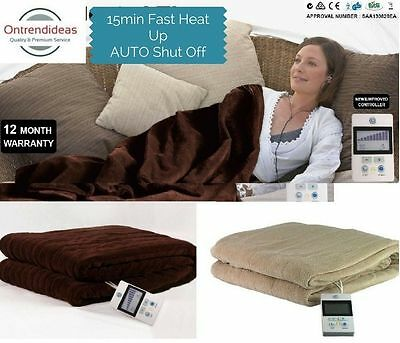 Ramesses Electric Heated Blanket | Throw  | 160 x 130cm | 10 Heat Control Levels