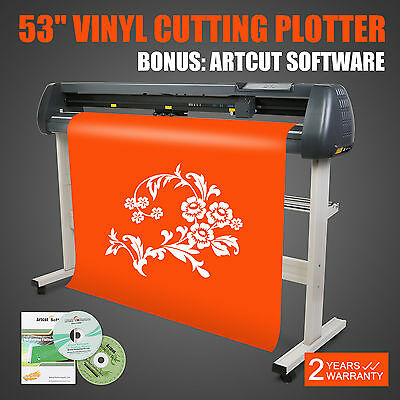 "Artcut Software 53"" Vinyl Cutting Plotter Heat Transfer Artcut Software Usb Lcd"