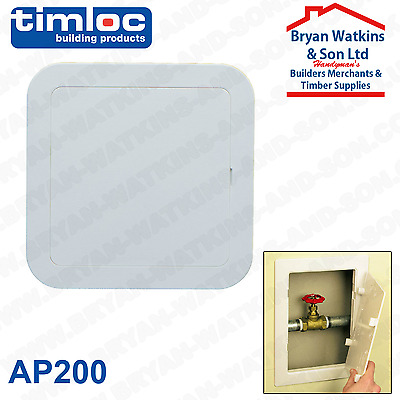 Authentic Timloc Plastic Access Panel Inspection Door/Hatch AP200 205x205mm