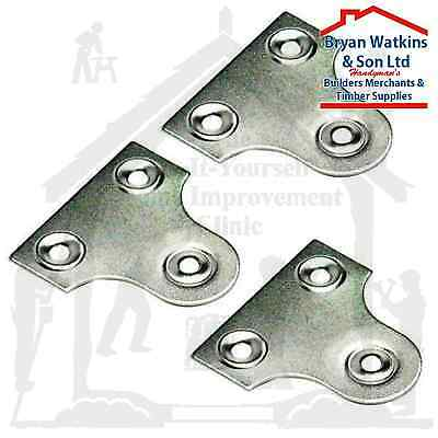 CHROME UNSLOTTED GLASS/MIRROR HANGING PLATE Flat Picture Frame Hanger Bracket