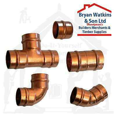 8mm Solder Ring Copper Yorkshire Plumbing Pipe Fittings Pre Soldered Microbore
