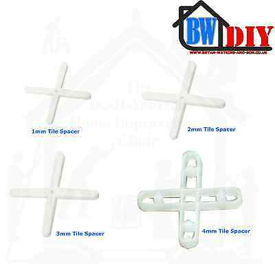 1.5mm, 2mm, 3mm, 4mm, 5mm, & 7mm Tile Spacers Wall & Floor Tile Spacers Easy Use