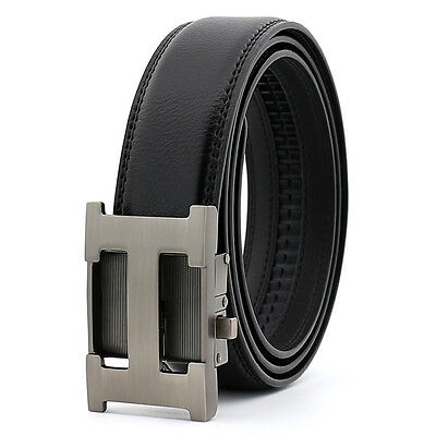 New Fashion Casual H Genuine Leather Automatic Buckle Mens Belt Waistband Strap