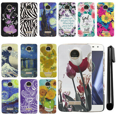 For Motorola Moto Z Play Droid XT1635 HARD Protector Back Case Phone Cover + PEN