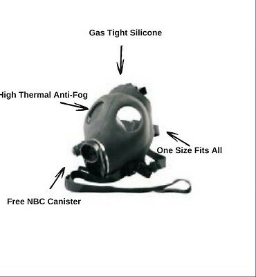 NBC Israeli Gas Mask With Free Canister Filter
