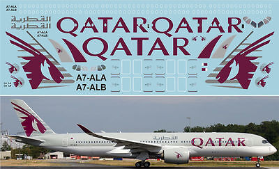 1:144 PAS-Decals #WT007  -  Airbus A-350 Qatar
