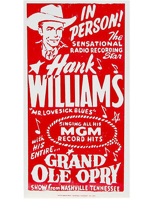 Hank Williams Poster Hatch Show Print
